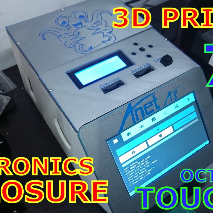 3D Printable 3D Printer Electronics Enclosure - Touch Screen