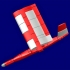 """""""Red Duck"""" RC flying wing image"""