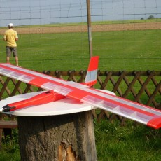 Red Swan  RC flying wing