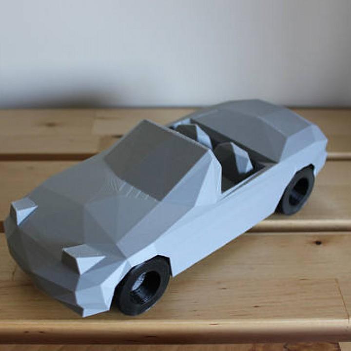 3D Printable Low-Poly Mazda Miata by DominimaDesign