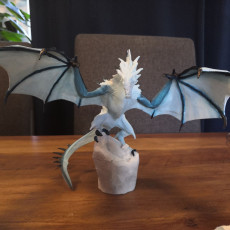 Picture of print of Skyrim Frost Dragon