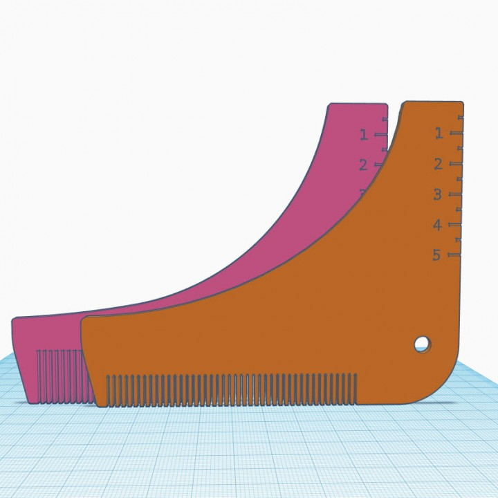 picture regarding Beard Shaping Template Printable called 3D Printable Shallow Minimize Beard Shaping Resource through Brian Barrett