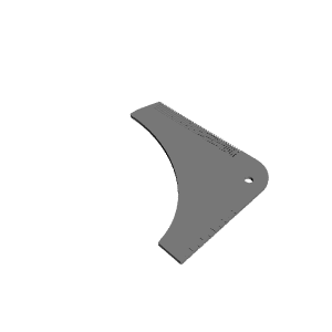 picture about Beard Shaping Template Printable named 3D Printable Shallow Slash Beard Shaping Instrument by means of Brian Barrett