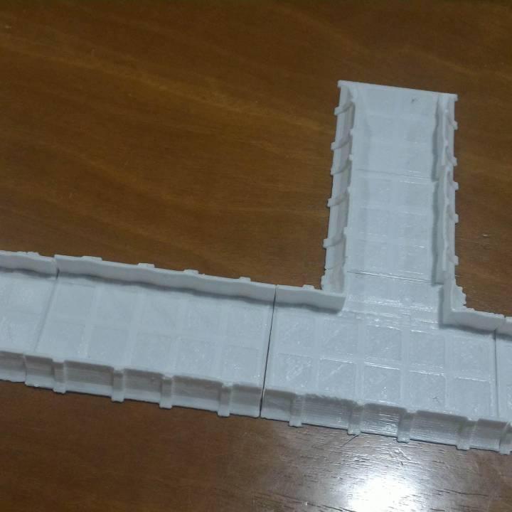 Tabletop 40k modular Defenseline Trench Warhammer Terrain Wall