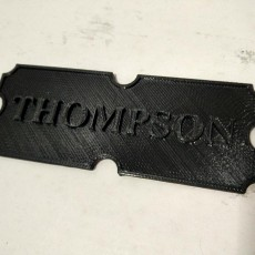Thompson Plaque