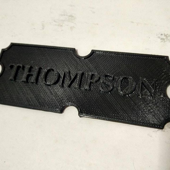 Thompson Plaque