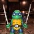 Chibi mutant ninja Turtles! LEO! print image