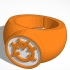 Orange Lantern Ring New image