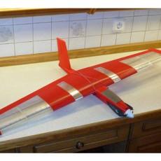 Speedy  Red Midi Swept Wing