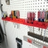 Screwdriver holder for pegboard image
