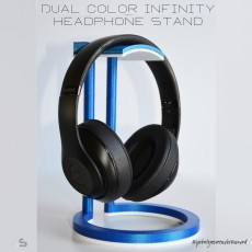 Dual Color Infinity Headphone Stand