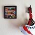 Lego figure photo frame shelve. image