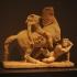 Amazon on horseback and barbarian image