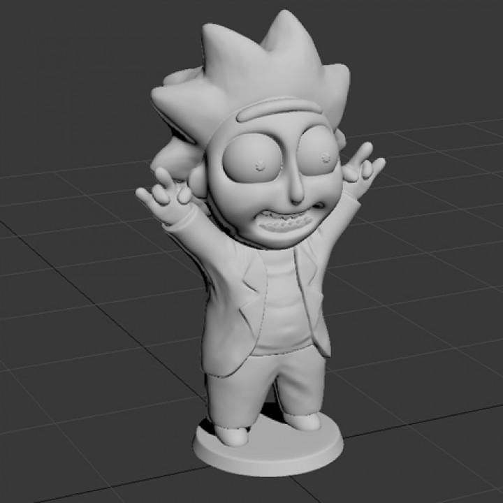Tiny Rick! - 3D files