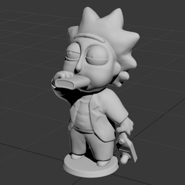 Drunk Tiny Rick - 3D files
