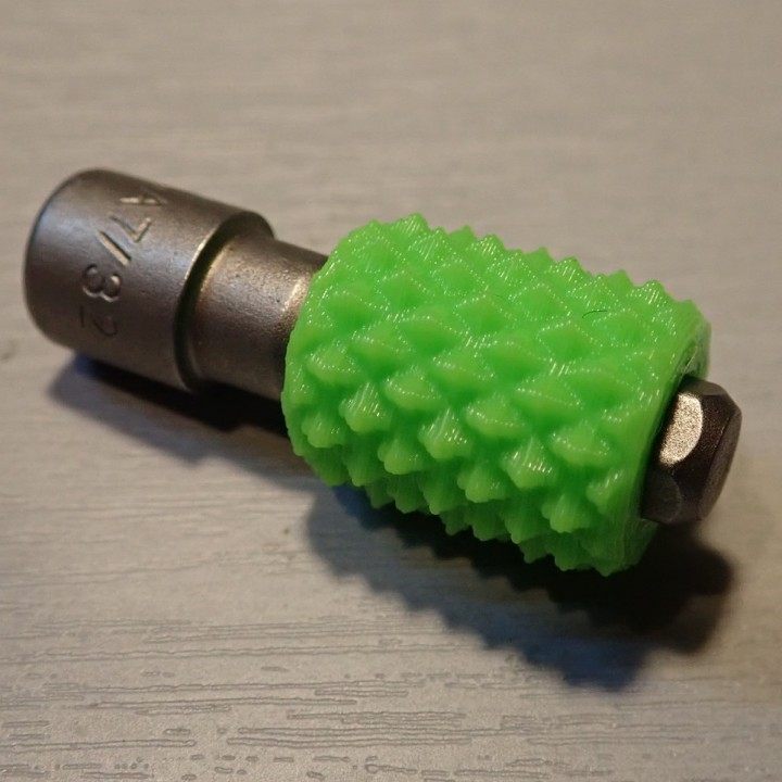 Stubby Knurled Hex Bit Driver