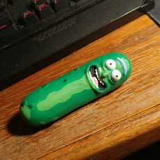Picture of print of Pickle Rick