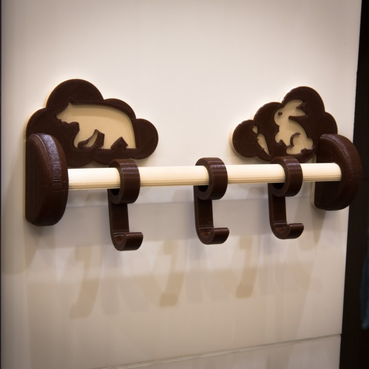 Children's hanger in the bathroom