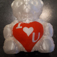Picture of print of Love Teddy Bear