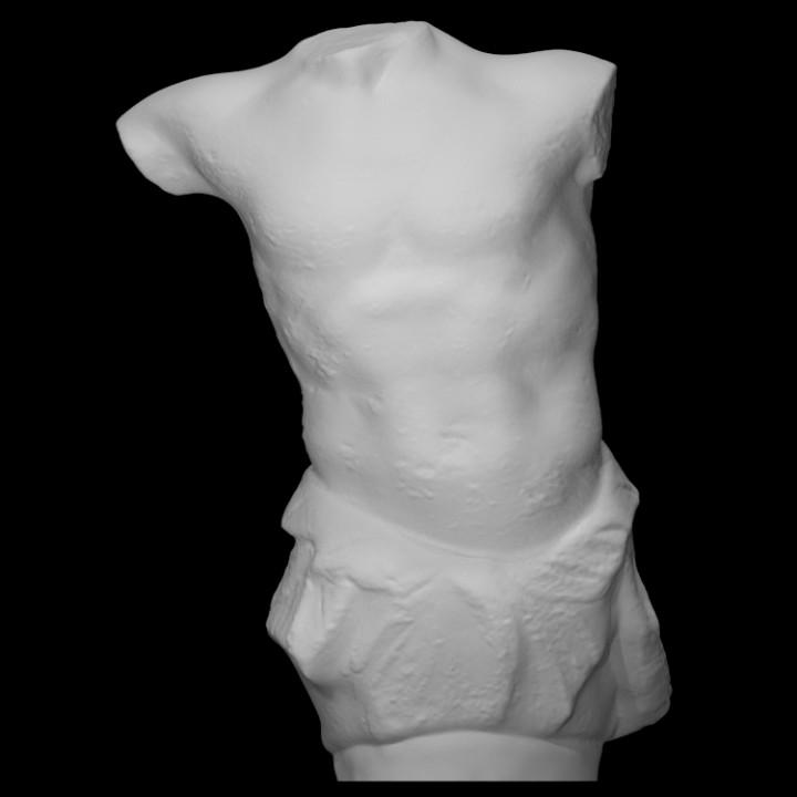 Torso of a Triton figure