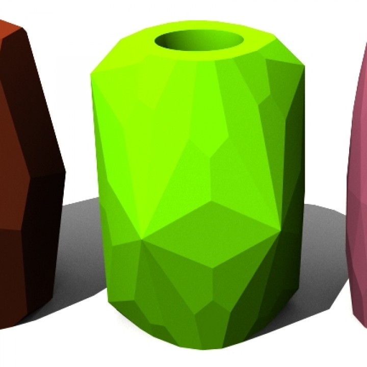 Low Poly Upcycled Can Vases