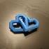 Interlinked Hearts print image