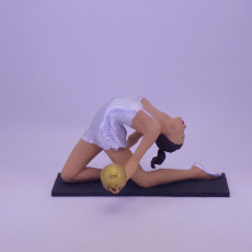Picture of print of Arched Gymnast