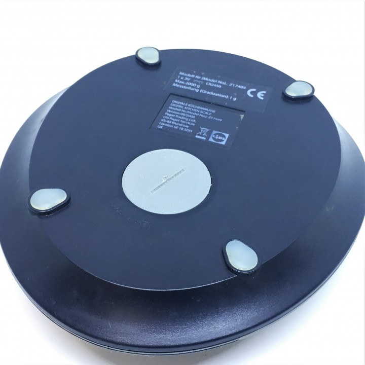 Battery cover for kitchen scale