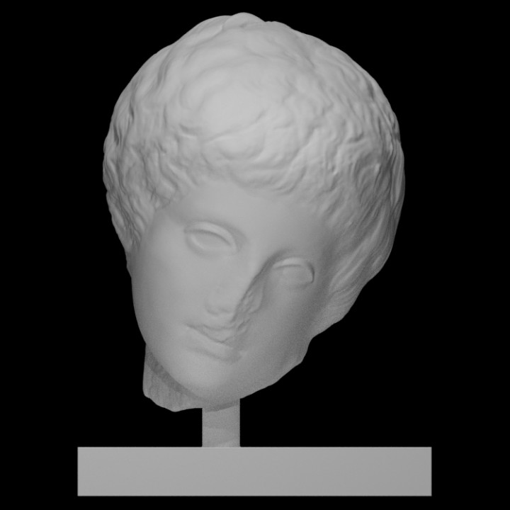 Head of a figure of an athlete (?) (so-called Narkissos)