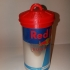 Upcycled Red Bull trash can image