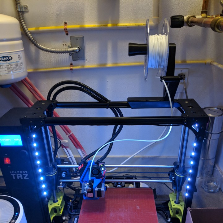 3D Printable Lulzbot Taz 6 Filament Spool Holder by Brett
