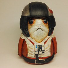 Picture of print of Porg X-wing Pilot - Star Wars