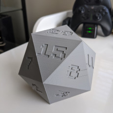 Picture of print of D20 D&D Dice LARGE