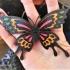 papillon multi-couleur pendentif image