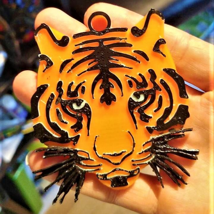 tigre multi-couleur