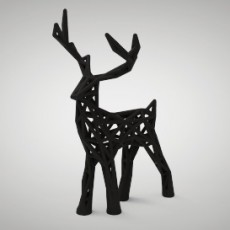 Wire-frame Holiday Deer
