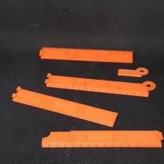 Folding Braille ruler