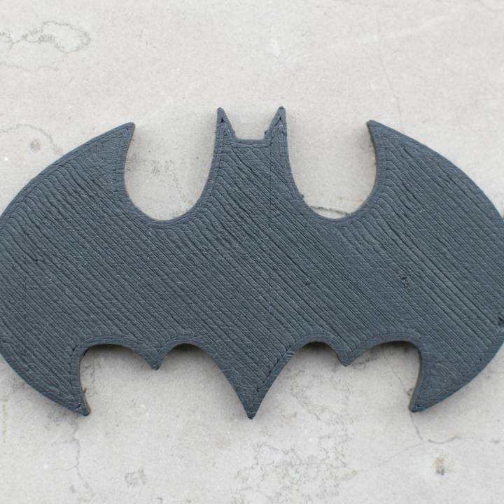 3d Printable Batman Logo By Matthew Kaye