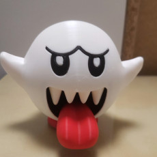 Picture of print of Boo from Mario games - Multi color This print has been uploaded by Javier