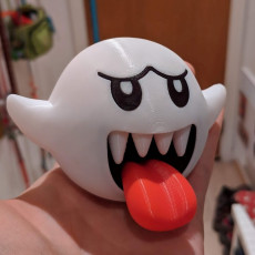 Picture of print of Boo from Mario games - Multi color