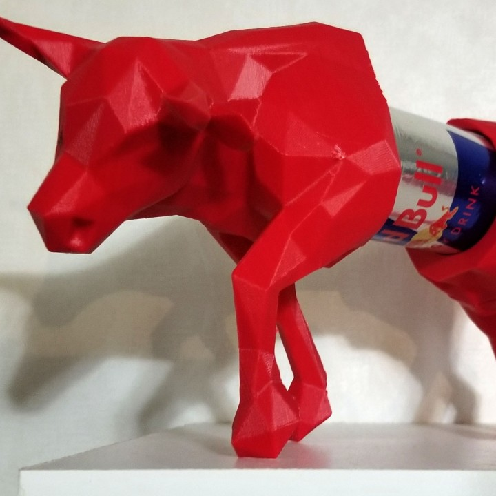 ESSO Red Bull Low Poly Red Bull