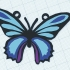 papillon bleu collier image