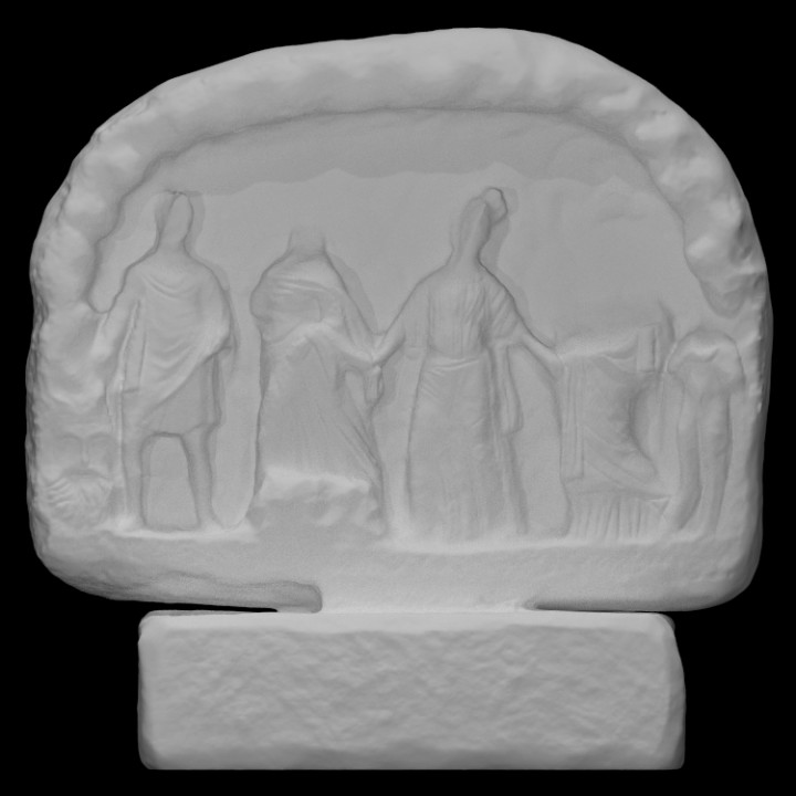 Votive relief in the shape of a cave