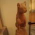 Funerary statue of a feline image