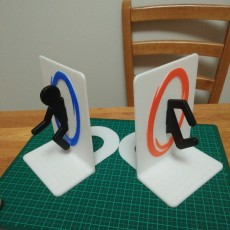 Picture of print of Portal Bookends