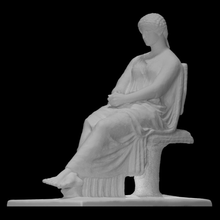 Statue of seated Agrippina