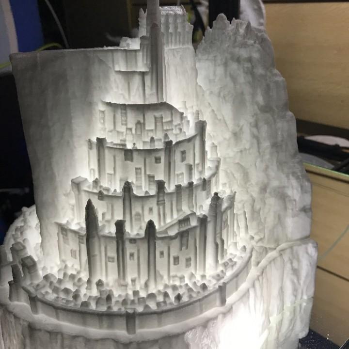 3D Printable Minas Tirith By Claven Moo