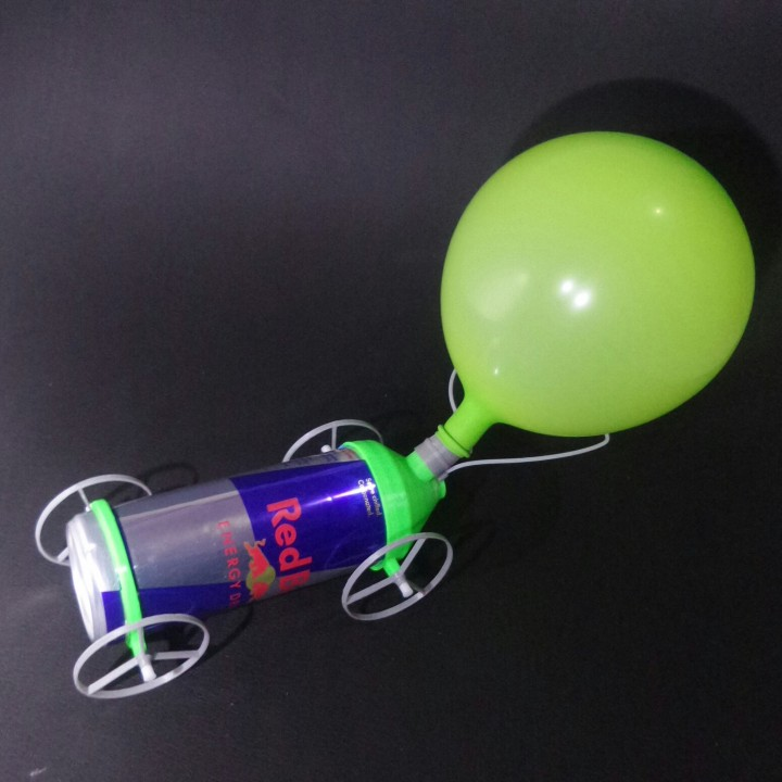 Can re-purposing second life - Balloon race car