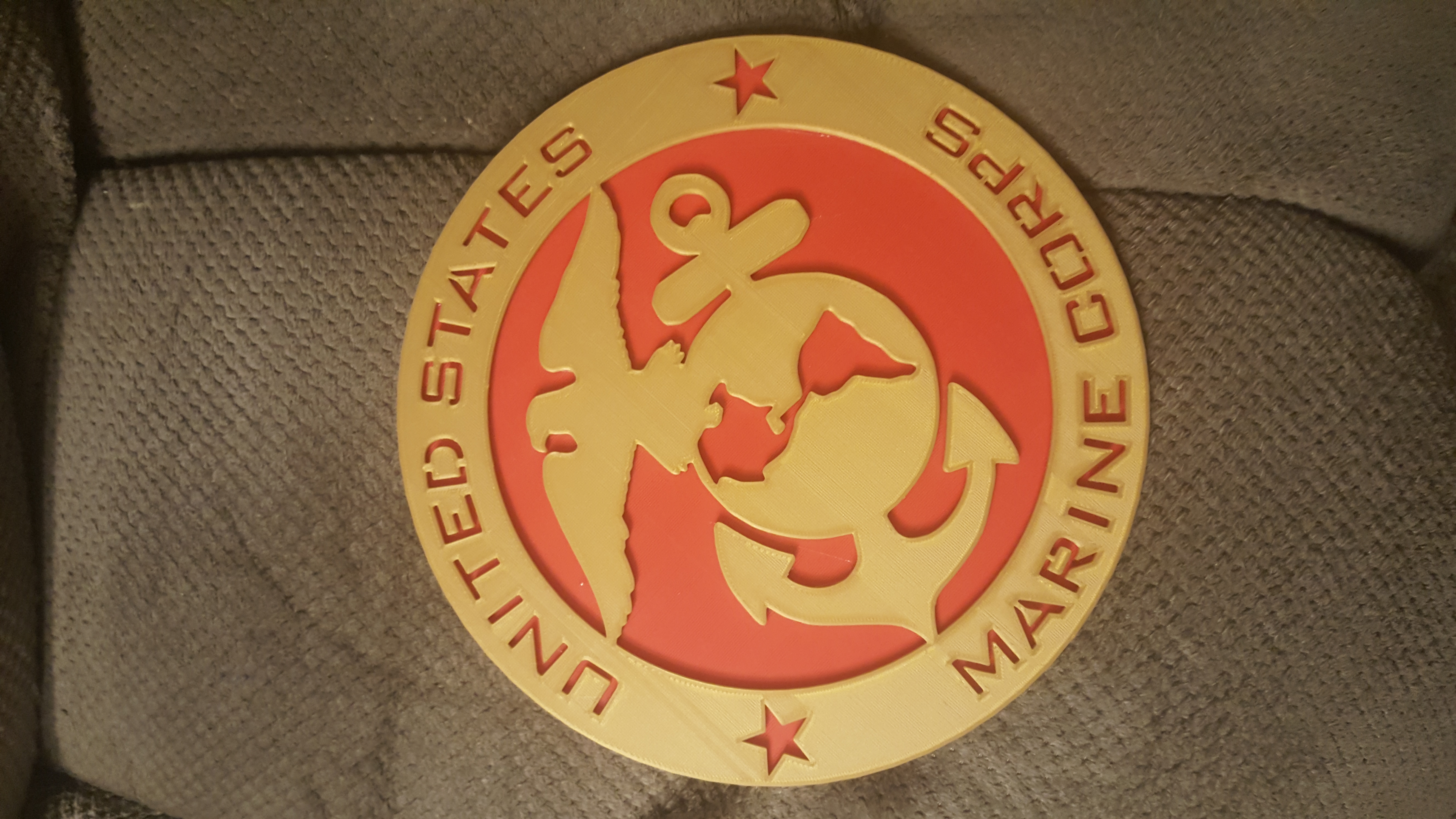 photograph relating to Printable Marine Corps Emblem named 3D Printable United Says Maritime Corps Symbol Insignia by means of