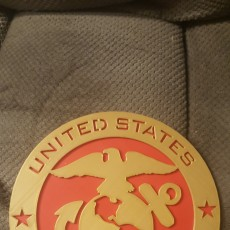 Picture of print of United States Marine Corps Emblem & Insignia